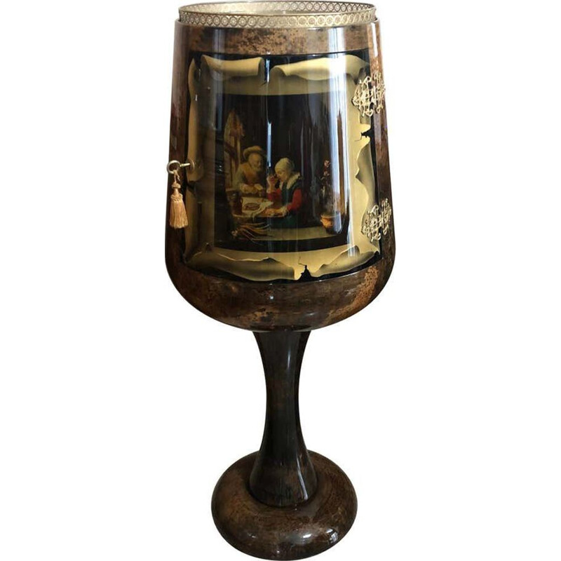 Vintage Goblet Shaped Bar Cabinet, 1960
