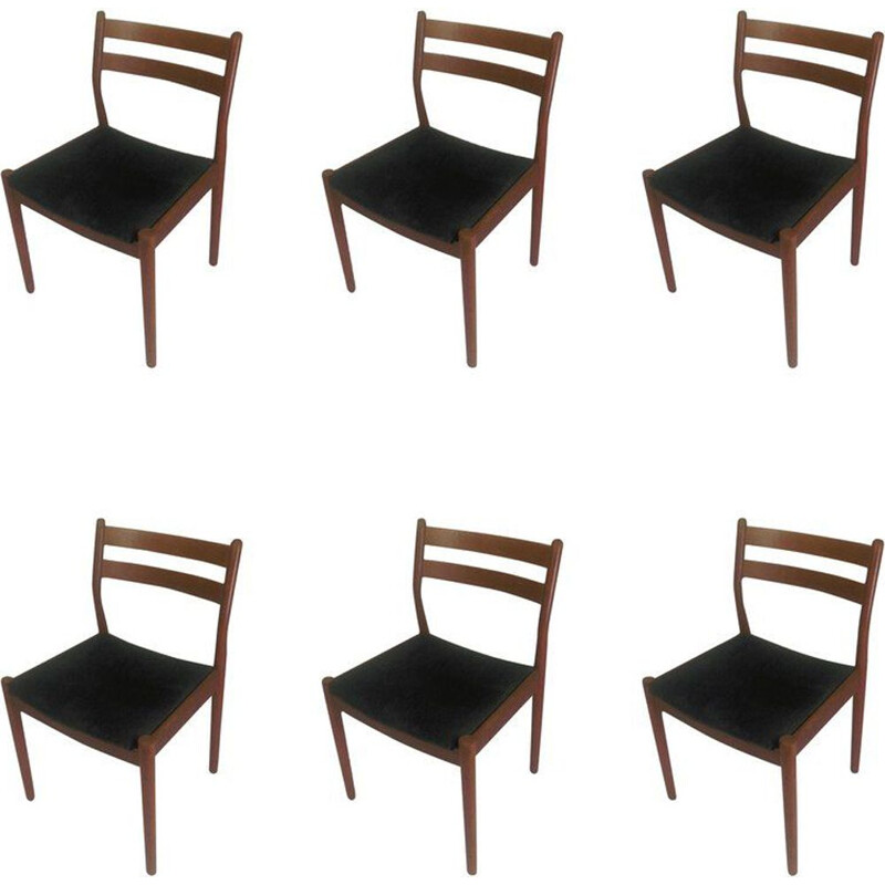 Set of 6 Poul Volther Dining Chairs