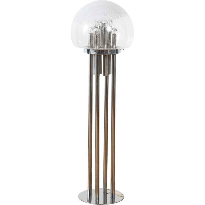 Italian space age floor lamp with Murano glass - 1960s