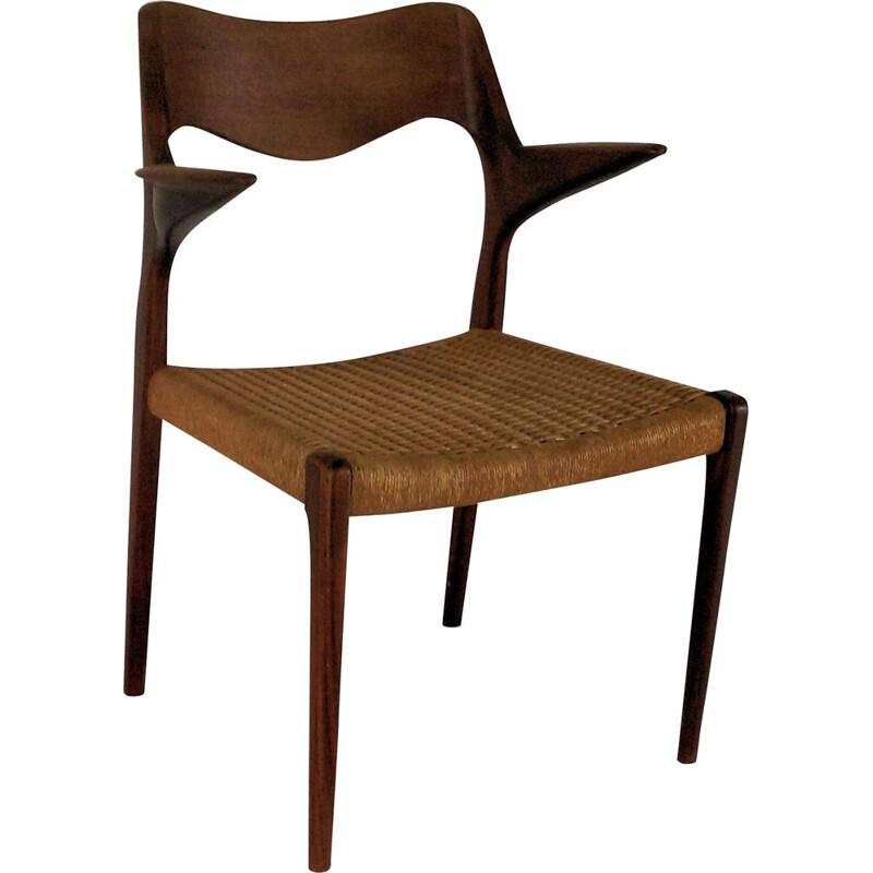Vintage armchair in teak by Niels Ottto Møller, 1960s