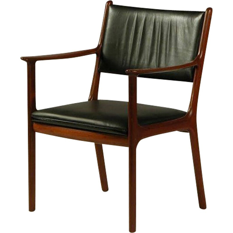 Vintage PJ 412 Armchair in Mahogany-by Ole Wanscher 1950
