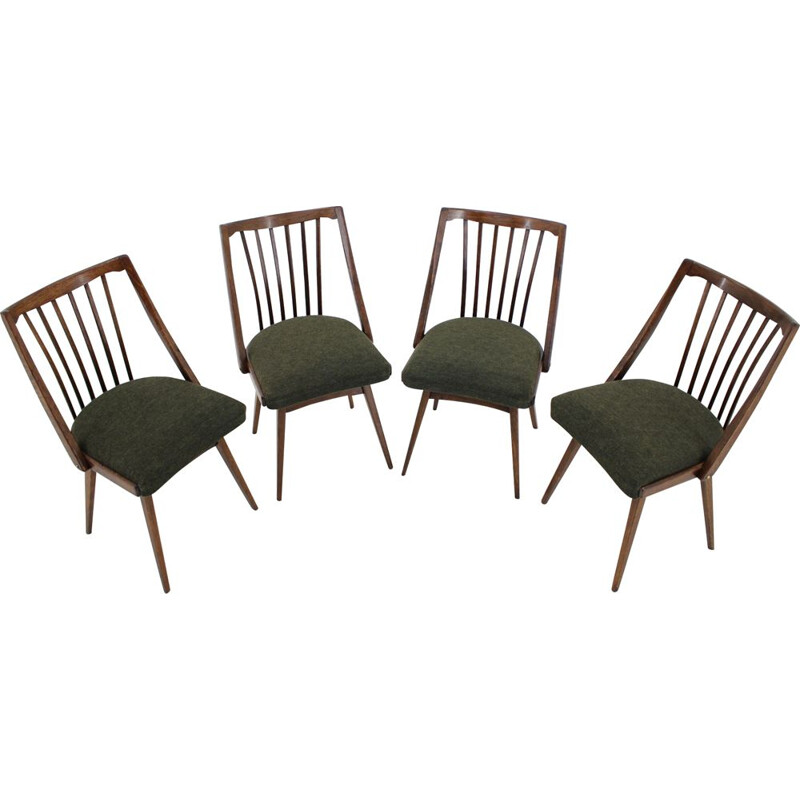 Set fo four vintage dining chairs designed by Antonín Šuman
