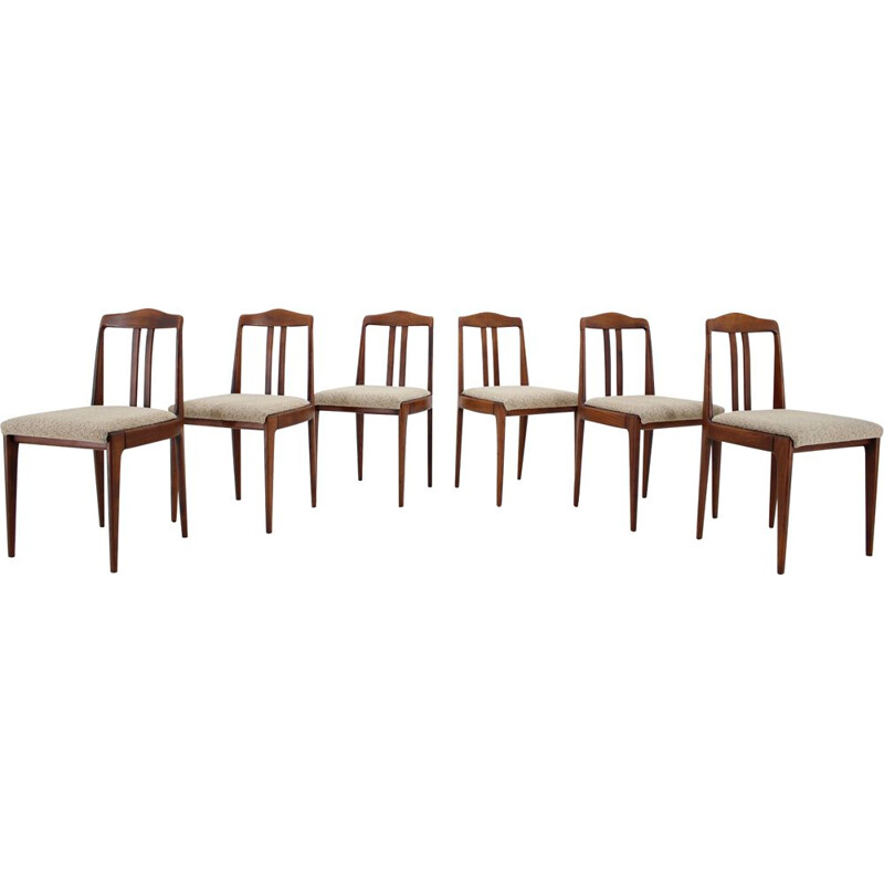 Set of six vintage dining chairs designed by Johannes Andersen, 1960