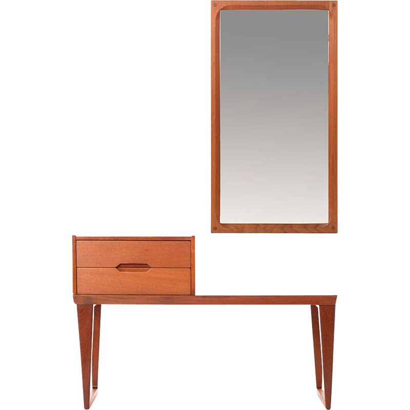 Vintage Danish dressing table set by Kai Krisitansen for Aksel Kjersgaard