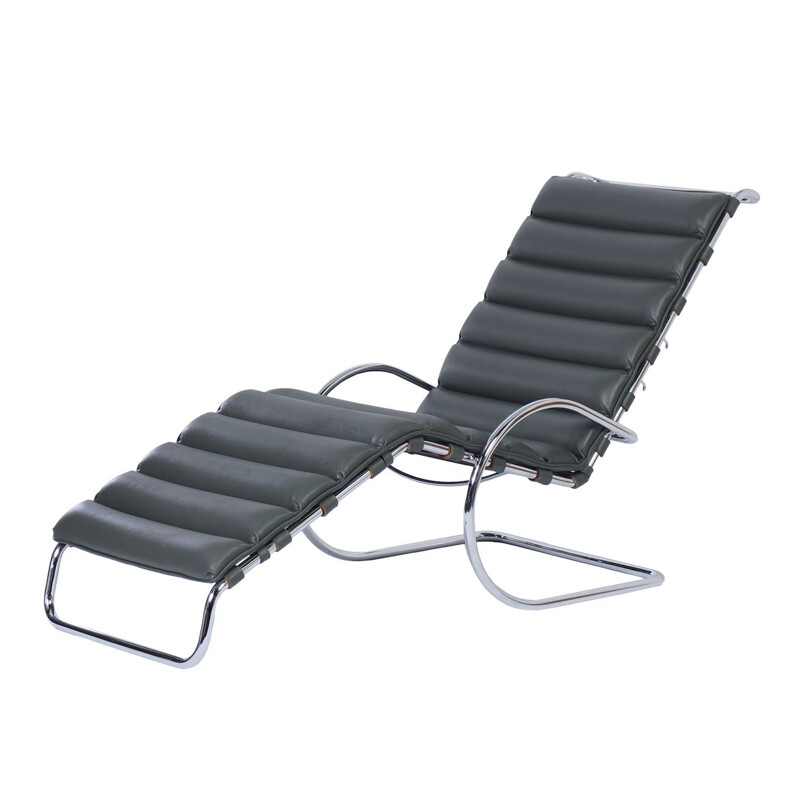Vintage MR Longue Chair by Mies van der Rohe for Knoll, 2000s