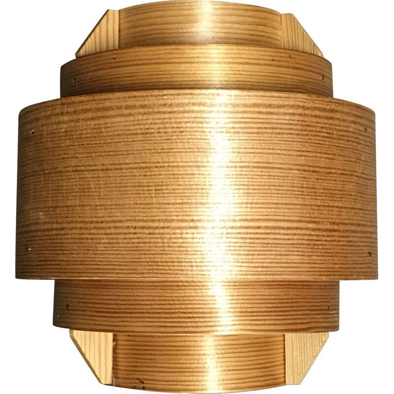 Vintage wooden wall light by Hans Agne Jakobsson, 1960s