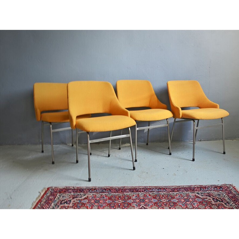 Set of 4 vintage FM32 dining chairs by Cees Braakman from Pastoe, 1960s