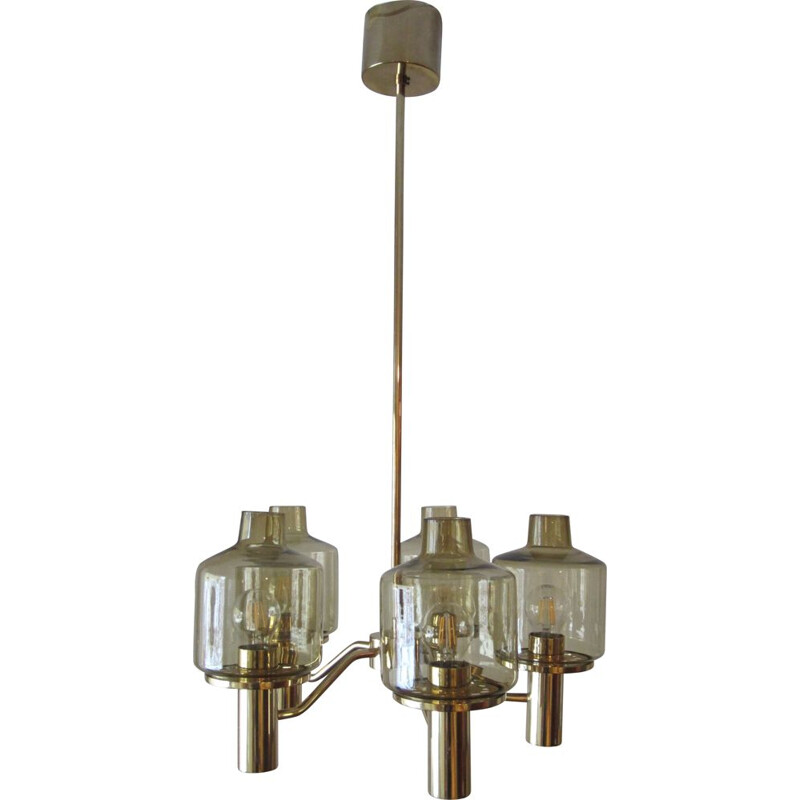 Vintage chandelier Prior T507 by Hans-Agne Jakobsson for AB Markaryd