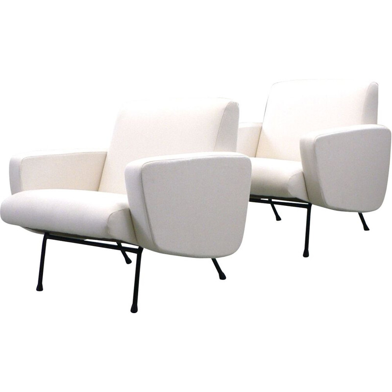 """Pair of """"Breda"""" vintage armchairs by Pierre Guariche"""