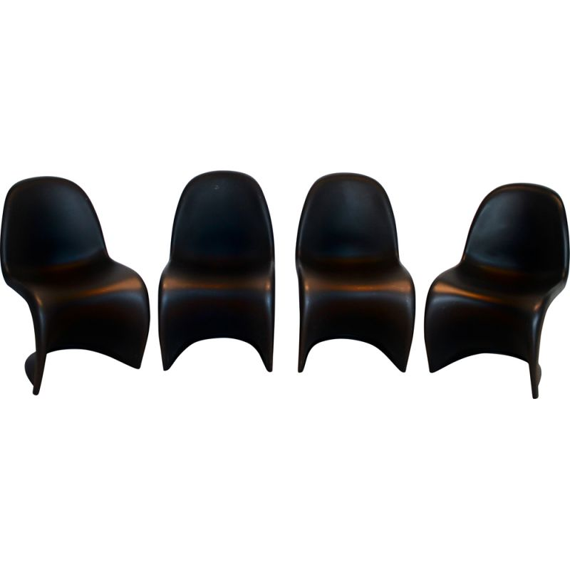 Set of 4 Panton chairs by Verner Panton for Vitra, 1999
