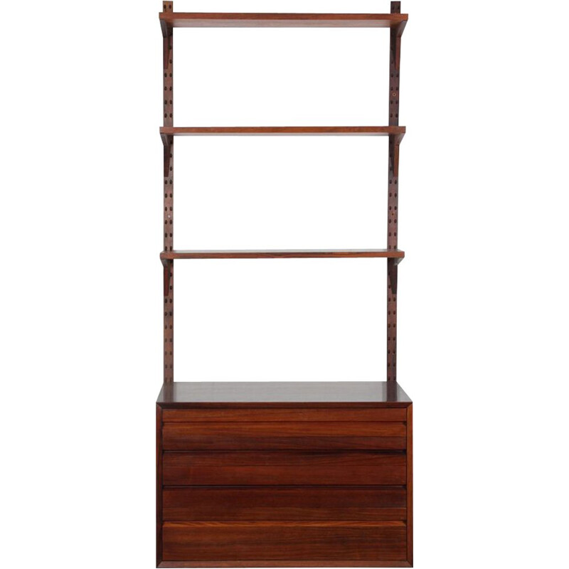 Vintage Scandinavian rosewood wall shelf by Poul Cadovius, 1960