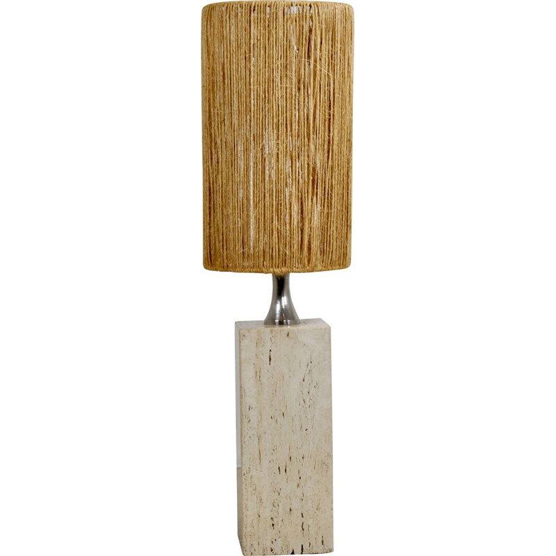 Vintage Italian travertine lamp 1960