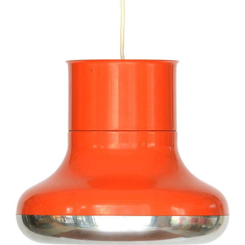 "Vintage orange pendant light ""Fluga"" by Hemi, Sweden, 1970"