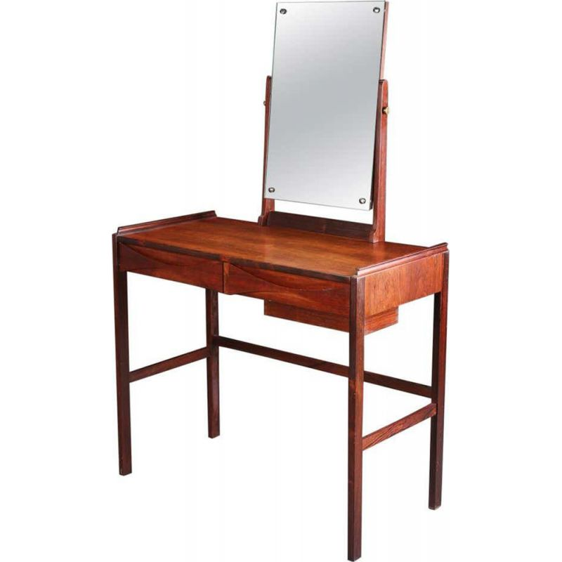 Deep Red Rubber Stamp Antique Dressing Table Vanity