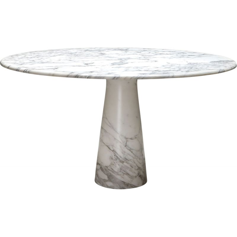 Marble vintage Calacatta dining table by Angelo Mangiarotti for Skipper, 1972