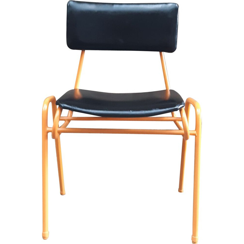 Black and orange vintage chair
