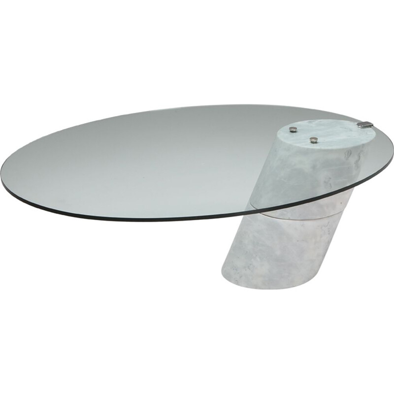 Vintage marble coffee table by Ronald Schmitt, 1980