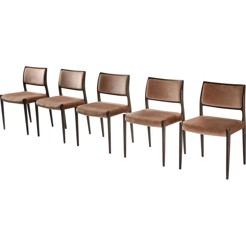 Set of 5 vintage Möller dining chairs, 1960