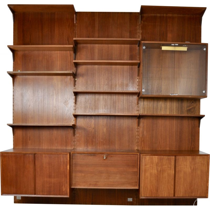 Vintage wall unit Royal System by Poul Cadovuis, 1960's