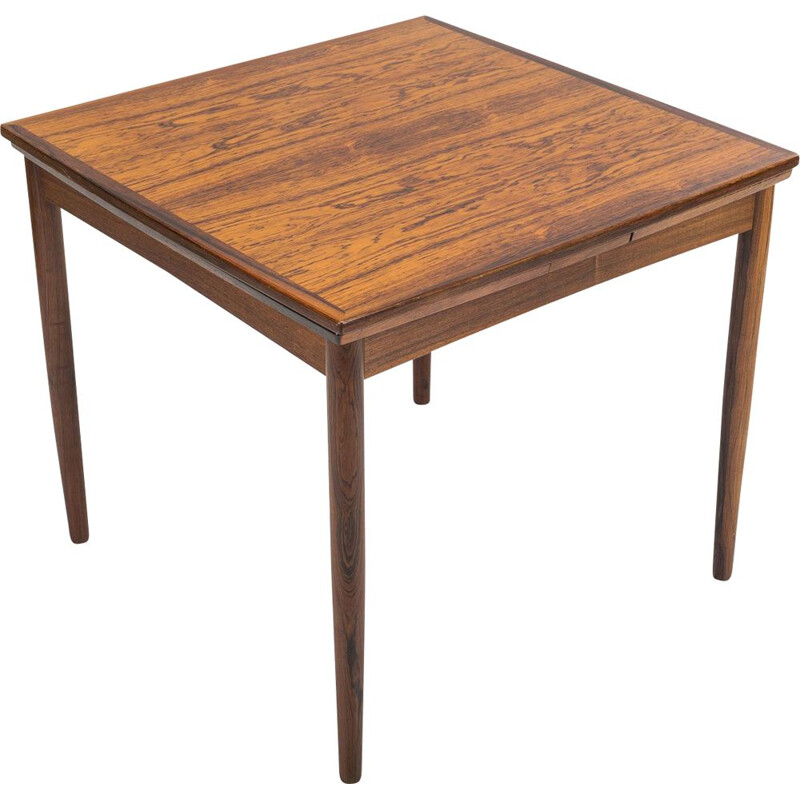 Vintage Danish extendable rosewood dining table by Poul Hundevad for Hundevad & Co, 1960s
