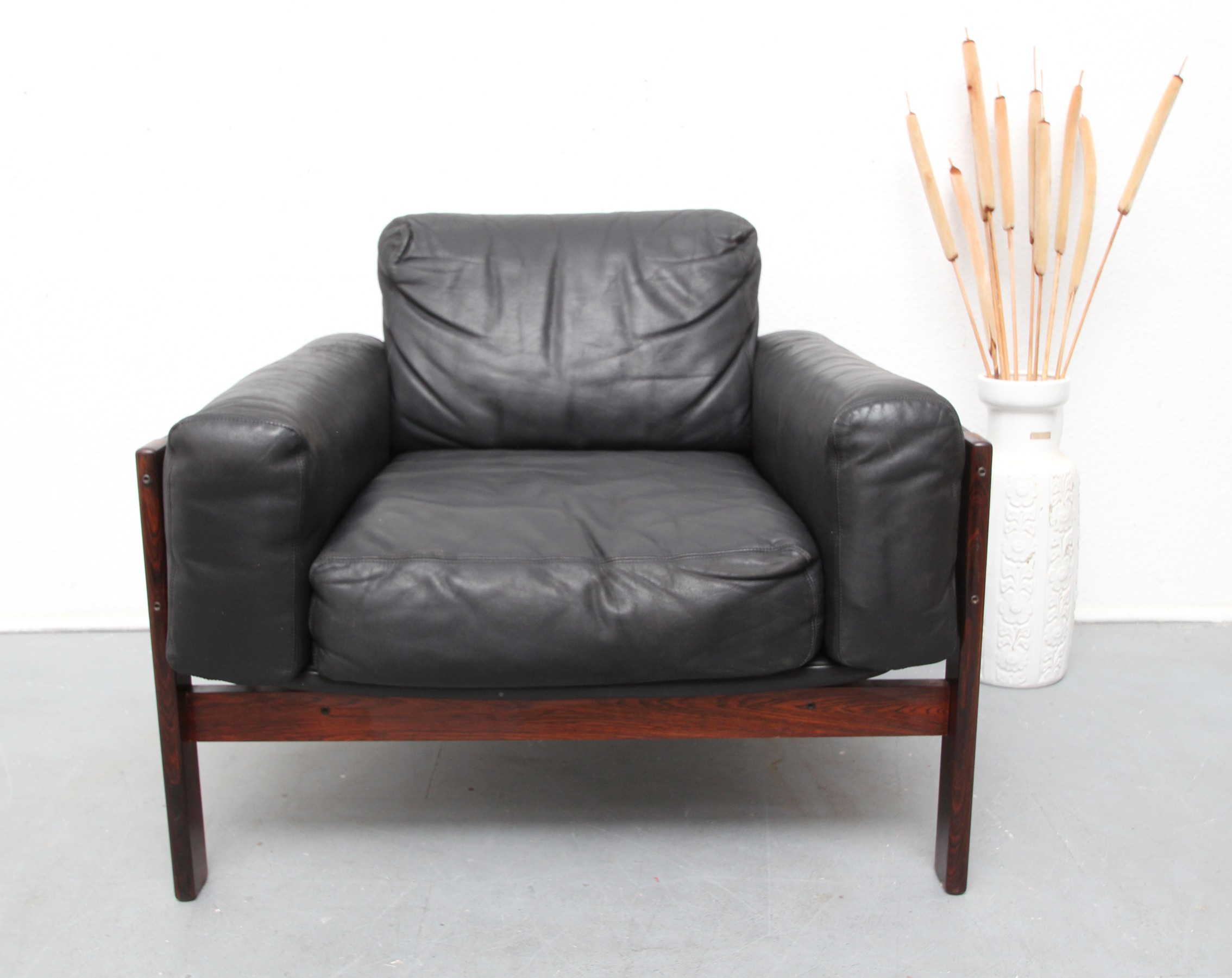 Flueline Easy Chair In Rosewood And Leather Sven Ivar Dysthe