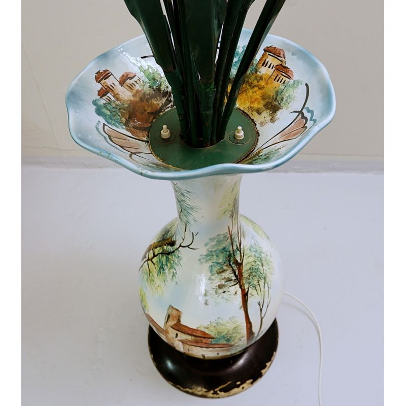 Vintage vase shaped floor lamp in