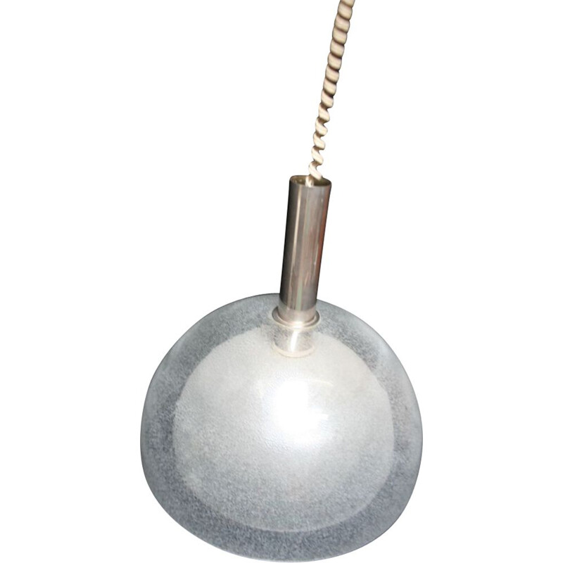 Glass vintage pendant light by Carlo Nason for Mazzega