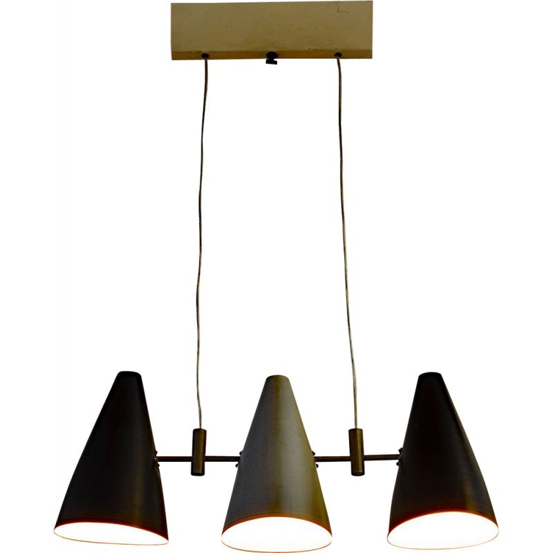 Vintage Italian pendant lamp with 3 lights, 1950s