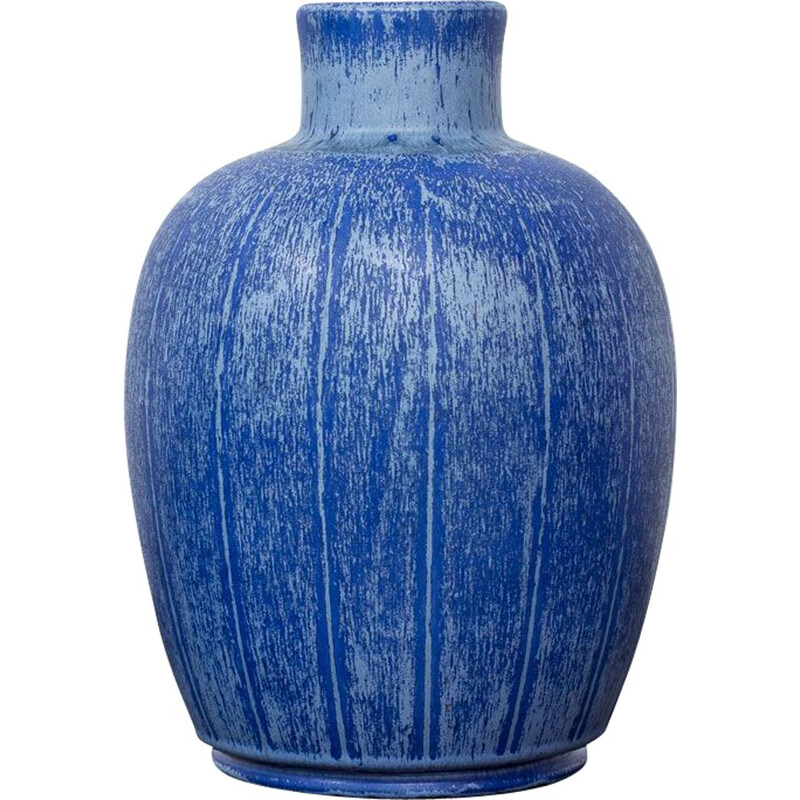 Vintage Swedish stoneware vase by Eva Jancke-Björk for Bo Fajans, 1940s
