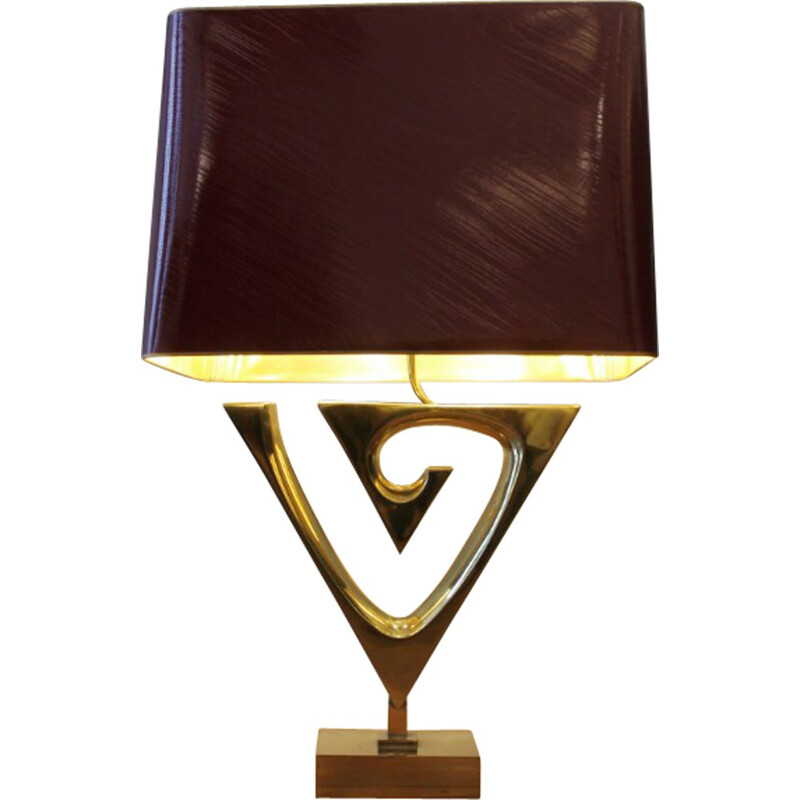 Mid century sculptural lamp in brass, Willy DARO - 1970s