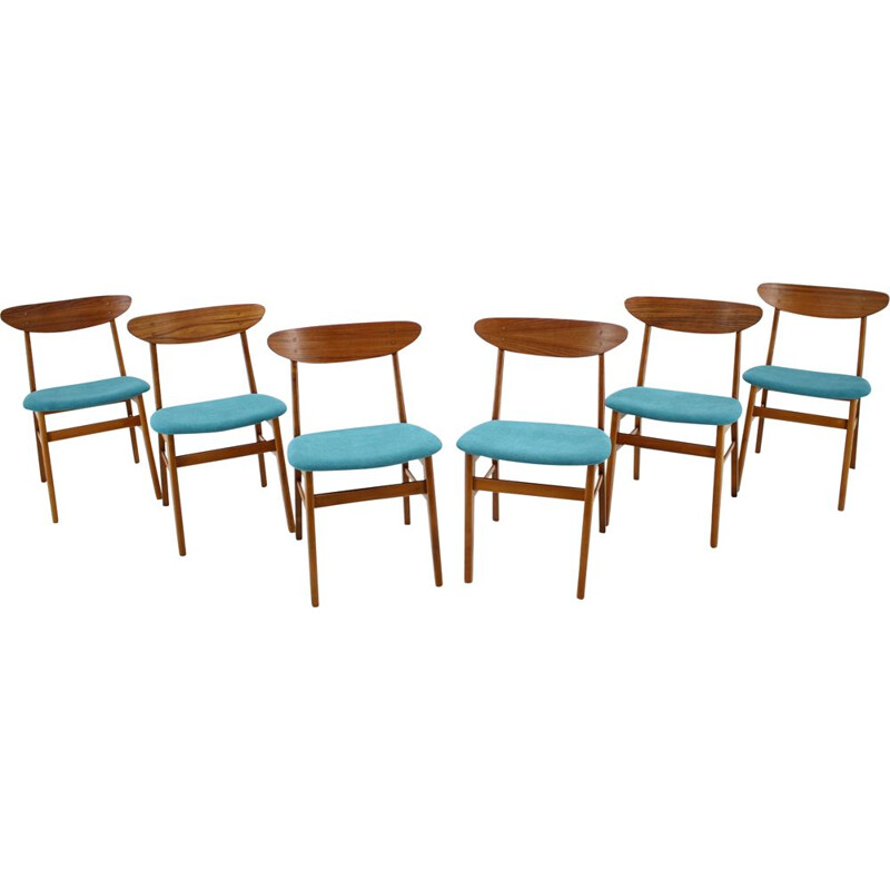Set of 6 dining chairs model 210r by Thomas Harlev, Denmark