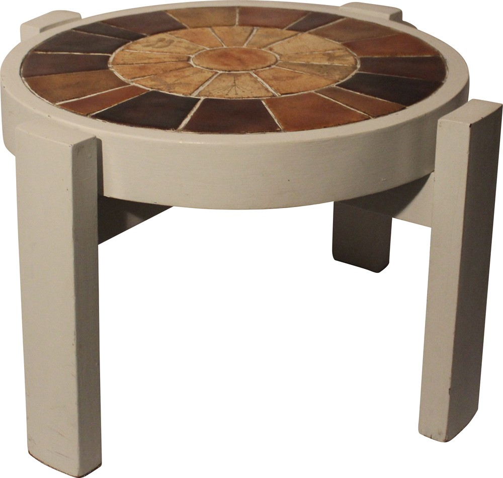 French Market Coffee Table: Vallauris Coffee Table In Ceramic, Roger CAPRON
