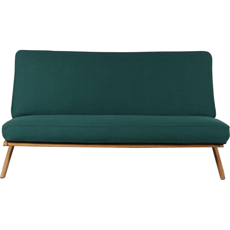 Birch vintage sofa manufactured in The Netherlands, 1950s