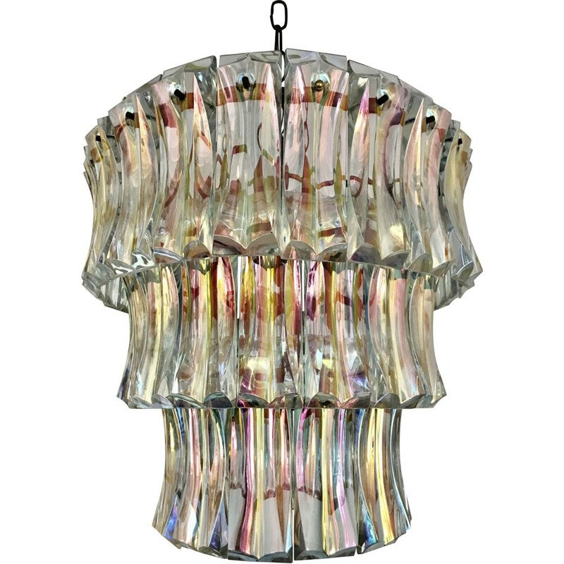 Vintage chandelier by Paolo Venini in Murano glass 1930's