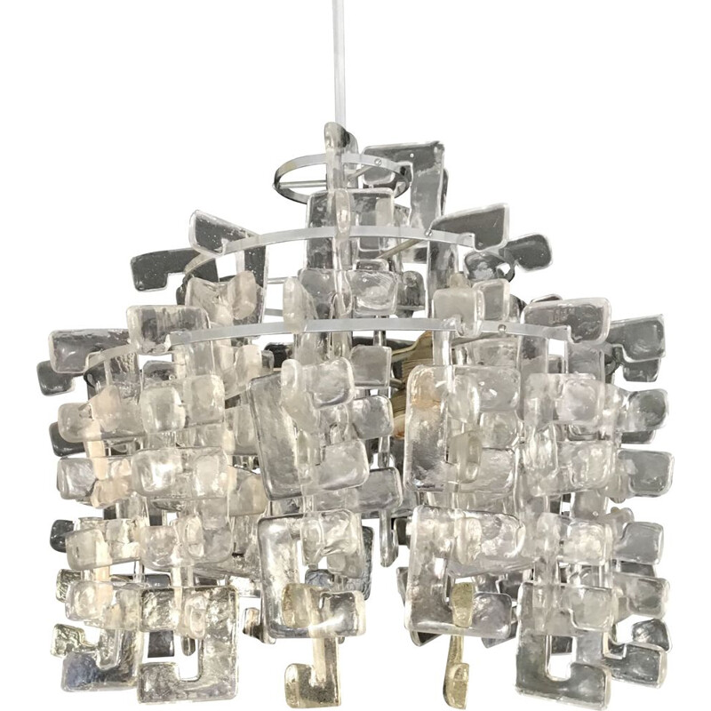 Vintage chandelier by Carlo Nason in Muraon glass by Mazzega, 1960