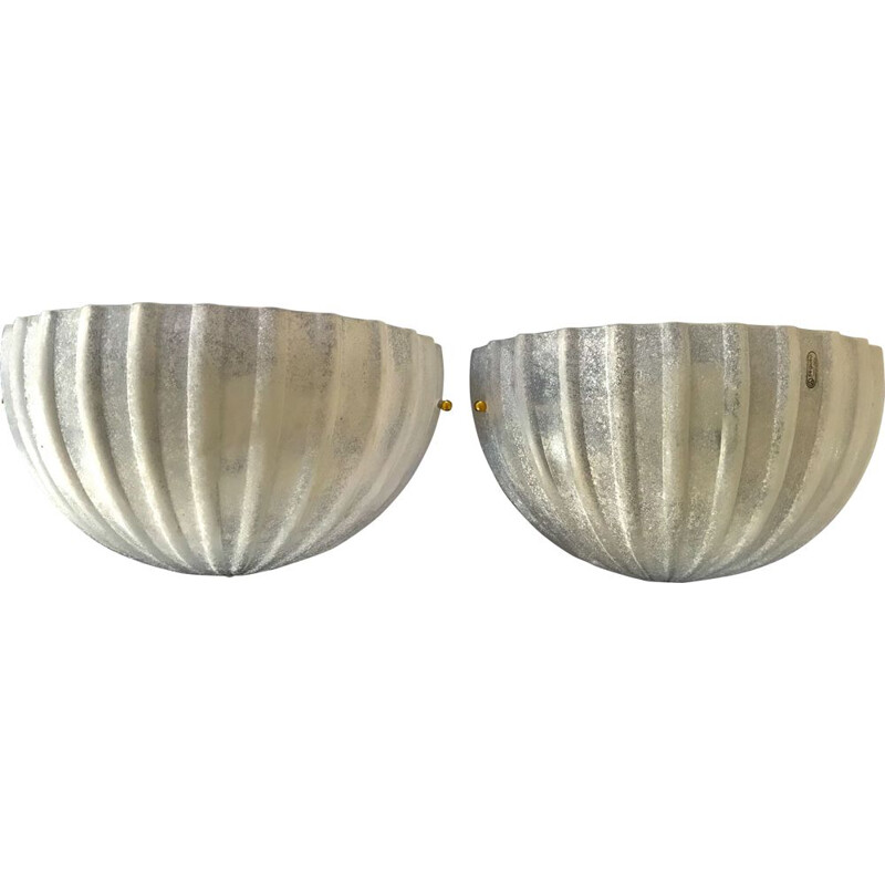 Pair of vintage sconces by Seguso for Vetri 1980