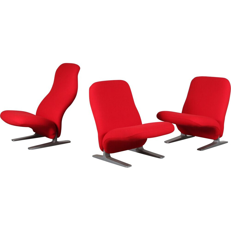"Vintage ""Concorde"" armchair by Pierre Paulin for Artifort, Netherlands 1970"