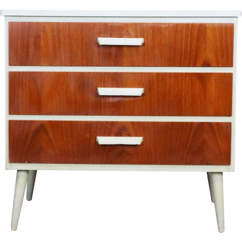 Vintage chest of drawers in wood and teak, Sweden 1960