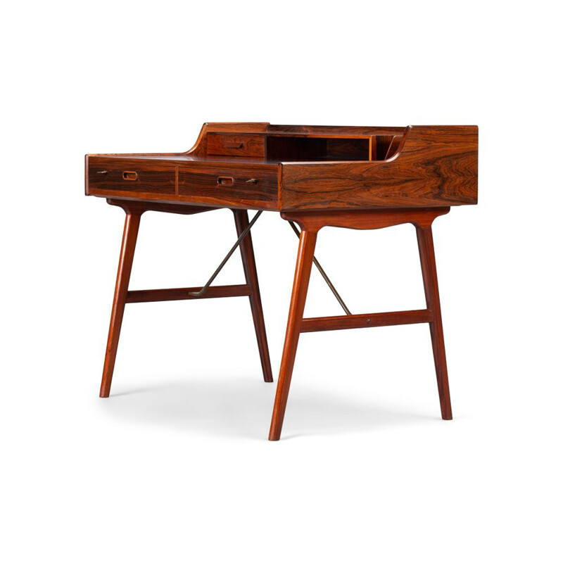 Vintage Desk Model 56 in Rosewood by Arne Wahl Iversen for Vinde Møbelfabrik, 1961