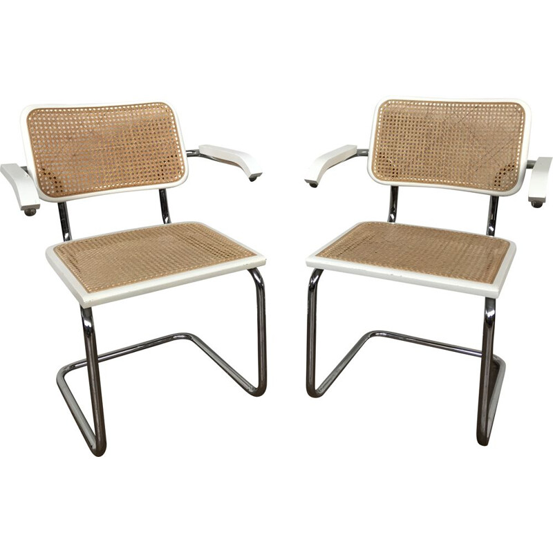 Pair of vintage armchairs by Marcel BREUER S64, 1970