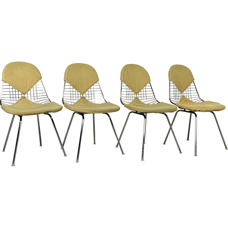 Set of 4 DKR Bikini vintage chairs by Charles and Ray Eames, 1950s