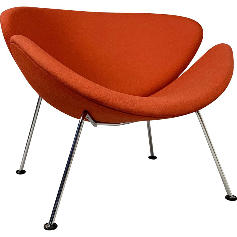 Vintage Orange Slice F437 armchair by Pierre Paulin for Artifort, 1970s