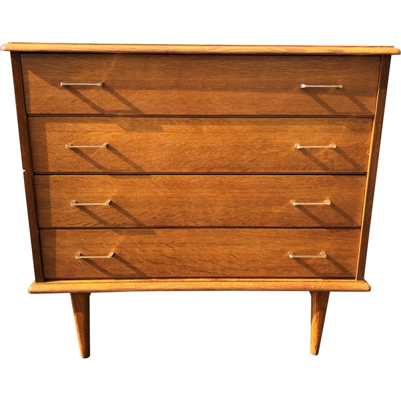 Vintage 4 drawers chest of drawers, 1960