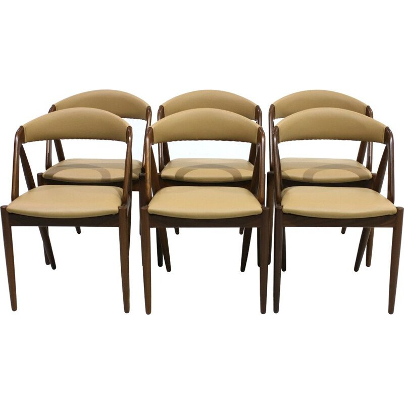 Set of 6 vintage model 31 teak Dining chairs by Kai Kristiansen