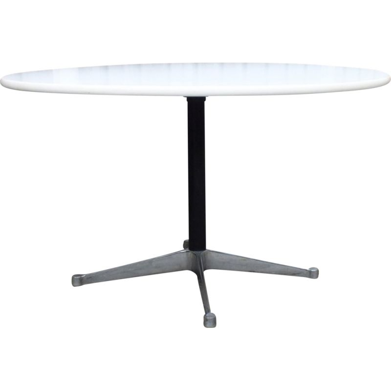 Vintage Round dining table by George Nelson for Herman Miller USA 1970s