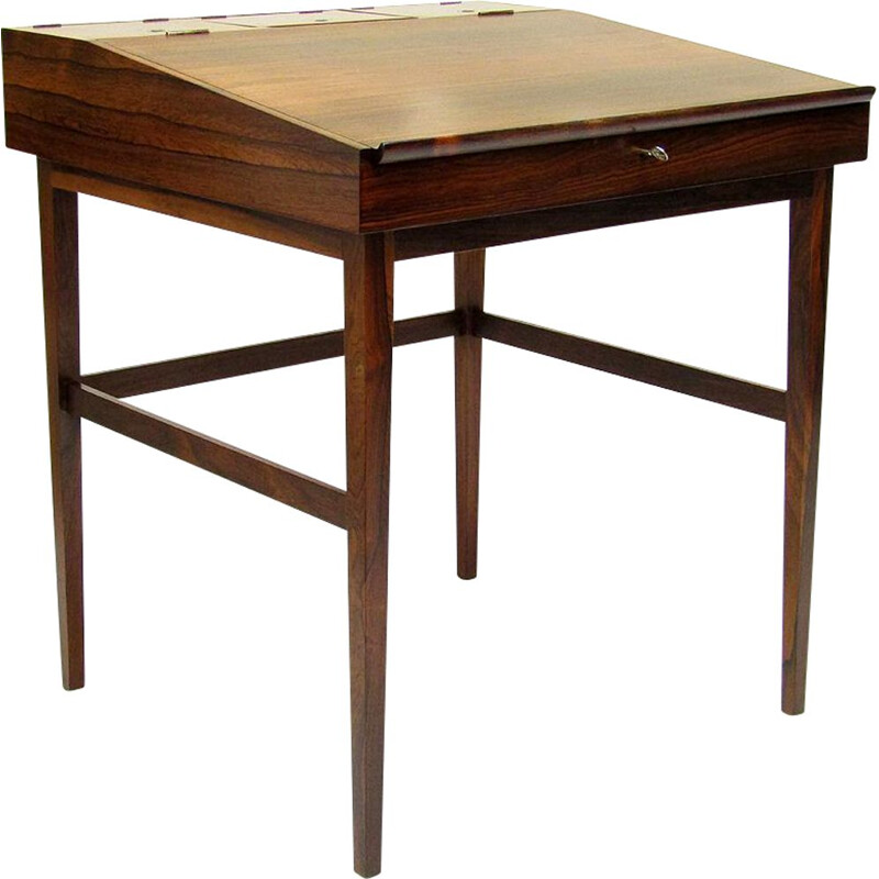 Vintage Danish Rosewood NV-40 Writing Desk by Finn Juhl for Niels Vodder