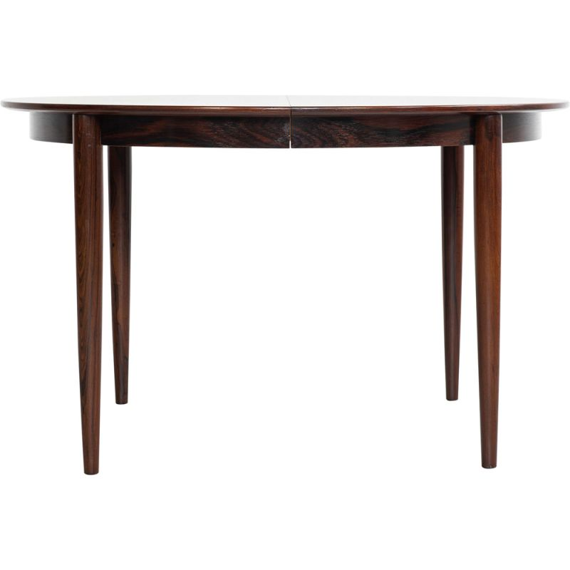 Midcentury Danish extendable round dining table in rosewood 1960s