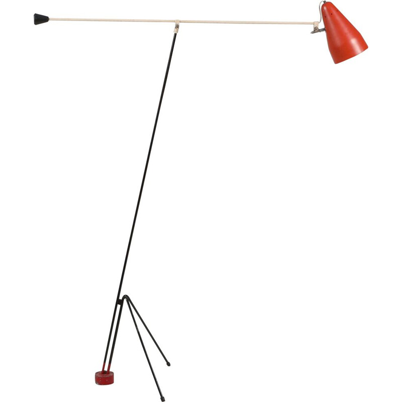 "Vintage floor lamp model ""NX29"" by Louis Christiaan Kalff from Philips, 1950s"