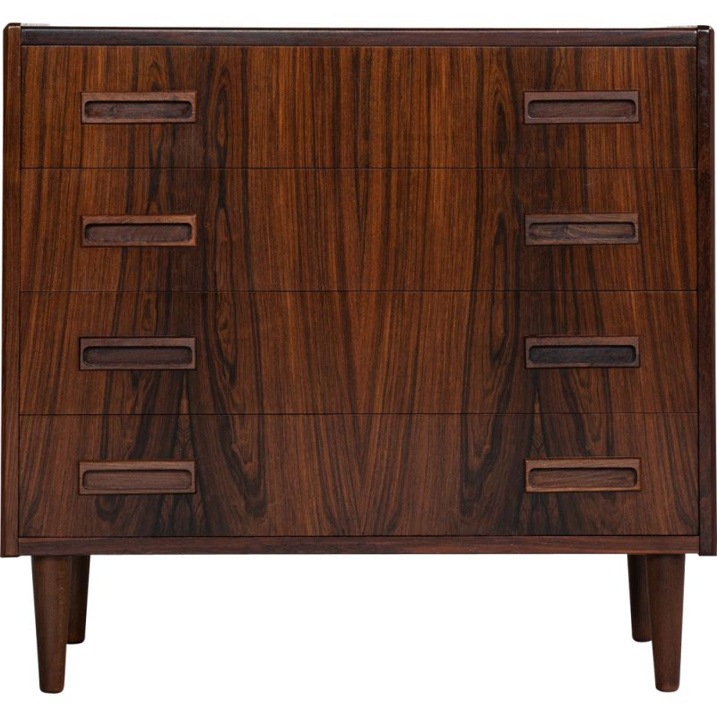 Vintage Danish chest of 4 drawers in rosewood by Westergaard 1960s