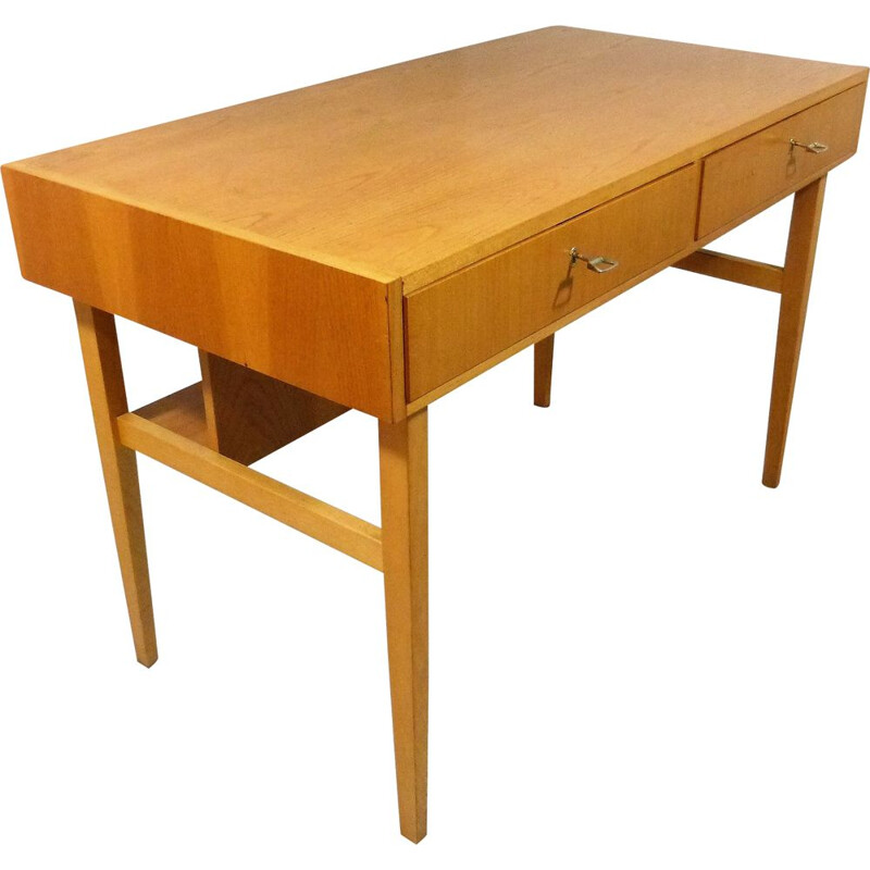 Vintage desk with book shelf by WK Möbel, Germany 1960s